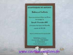 10 ans mariage invitation