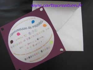 Carte anniversaire disco 40 ans - cartescreation.fr