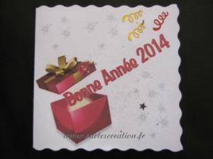 Carte bonne année cadeau