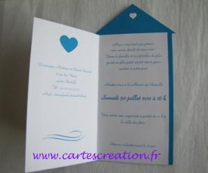 Faire-part mariage cabine plage