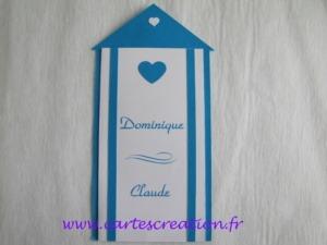 Faire-part mariage cabine de plage - cartescreation.fr