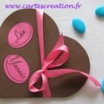 Faire-part coeur gourmandise - Faire-part de mariage créatif