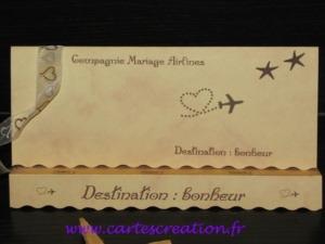 Faire-part mariage voyage