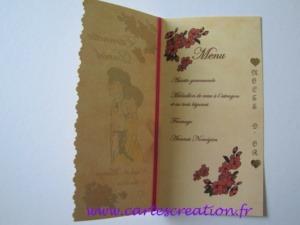 Carte d'anniversaire menu 50 ans mariage - cartescreation.fr
