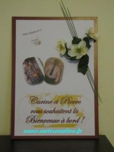 Panneau de mariage thème voyage
