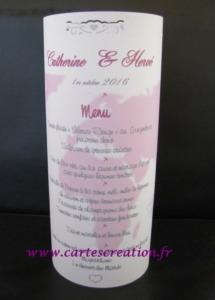 Photophore voyage rose papier calque