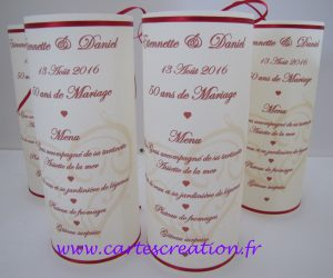 Photophores 50 ans mariage
