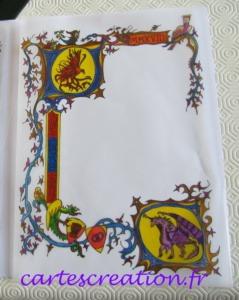 Faire-part médiéval dessin terminé
