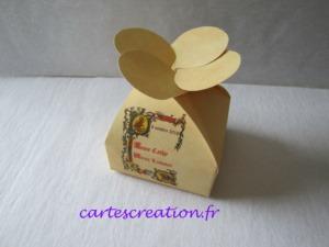Bonbonnières de dragées mariage médiéval - cartescreation.fr
