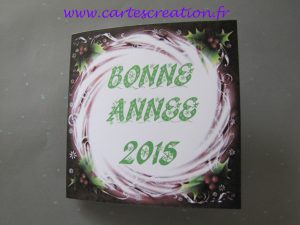 Carte de bonne année personnalisée houx tourbillon
