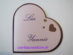 Faire-part mariage coeur violet - Faire-part de mariage créatif