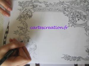 Faire-part naissance médiéval - création fresque - cartescreation.fr