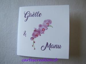 Faire-part de mariage orchidée - cartescreation.fr
