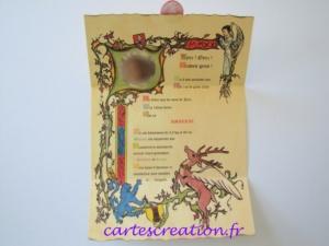 Faire-part médiéval naissance - cartescreation.fr