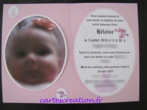 Faire-part baptême danseuse étoile - cartescreation.fr