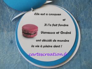 Faire-part mariage macaron - cartescreation.fr