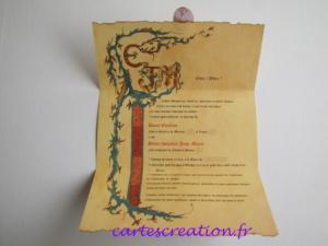 Faire-part mariage médiéval - cartescreation.fr