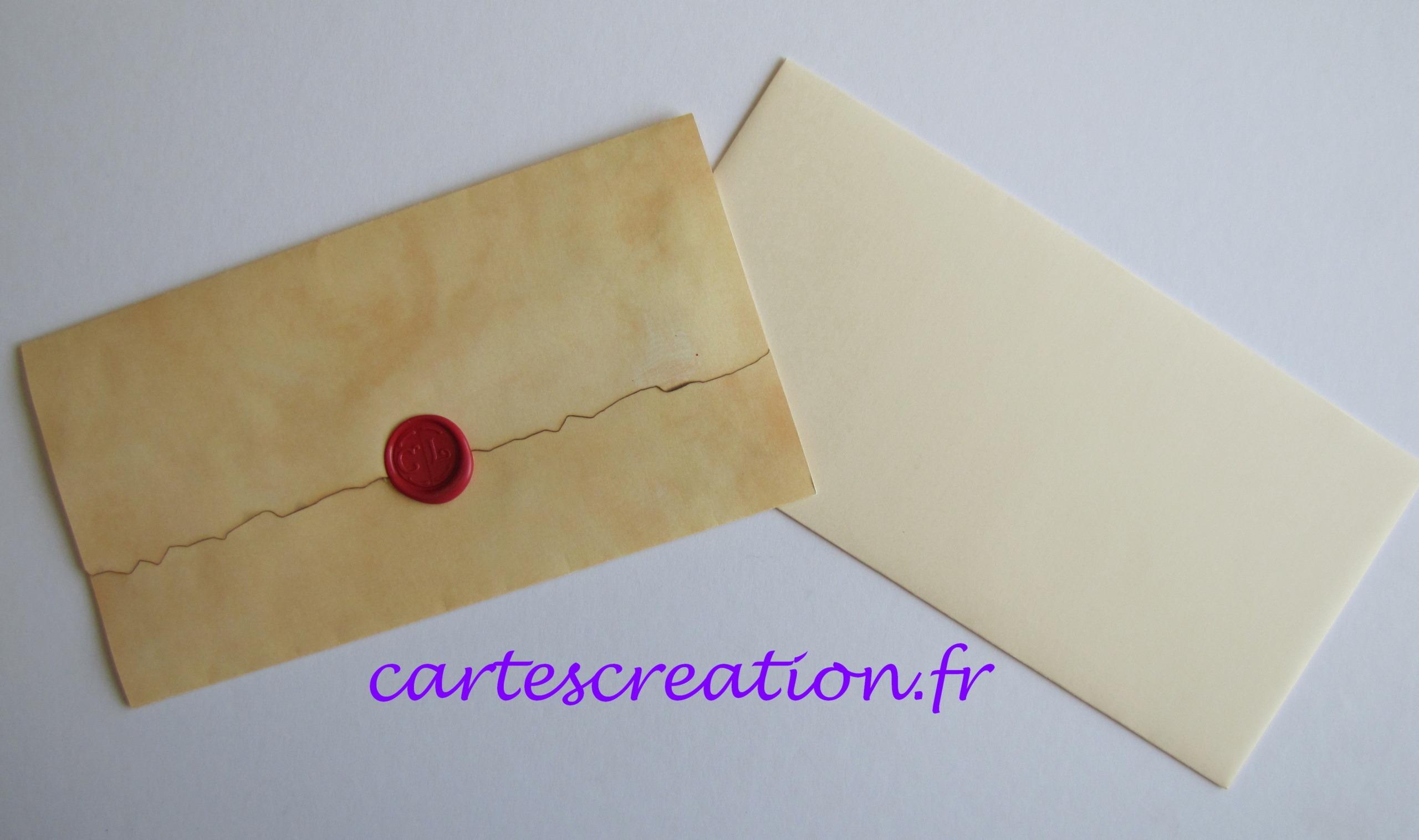 Faire-part mariage médiéval + enveloppe - Cathy et Ludovic - cartescreation.fr