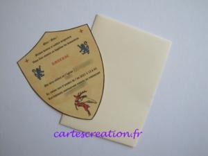 Faire-part baptême médiéval - cartescreation.fr